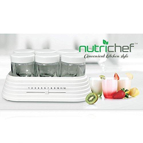 máquina de yogurt electrónico nutrichef con capacidad de 6