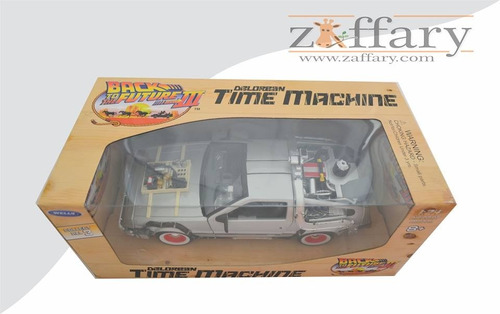 maquina del tiempo delorean escala 1:24