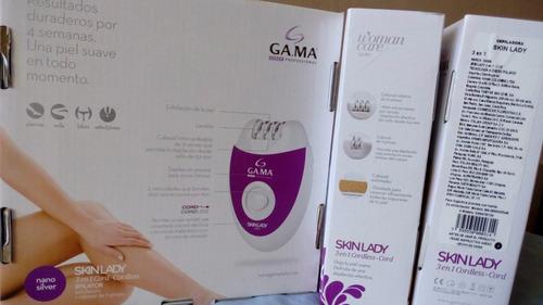 maquina depiladora y exfoliadora gama, inalambrica- conectad