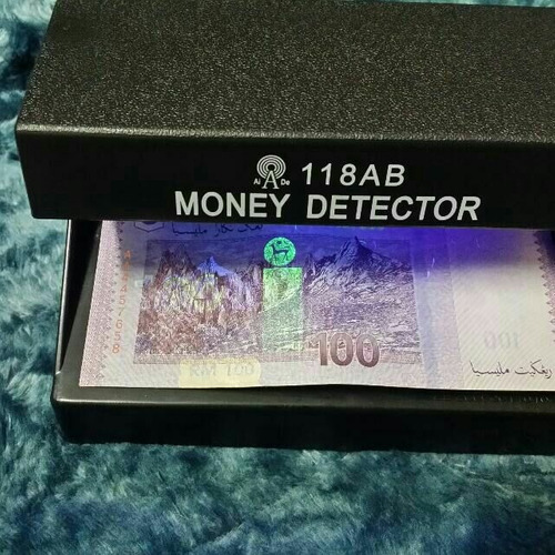 maquina detector de billetes falsos electrico mod: 118