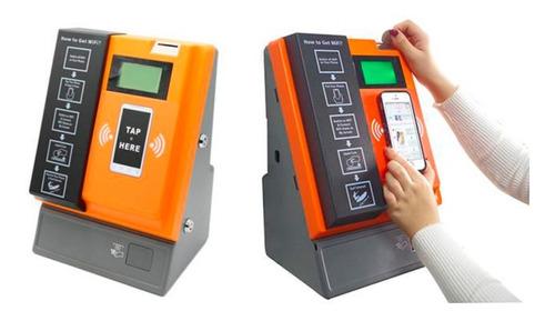 máquina dispensadora de wi-fi y de carga eléctrica celulares