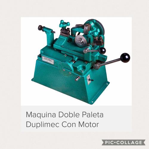 maquina doble paleta con motor nueva duplimec