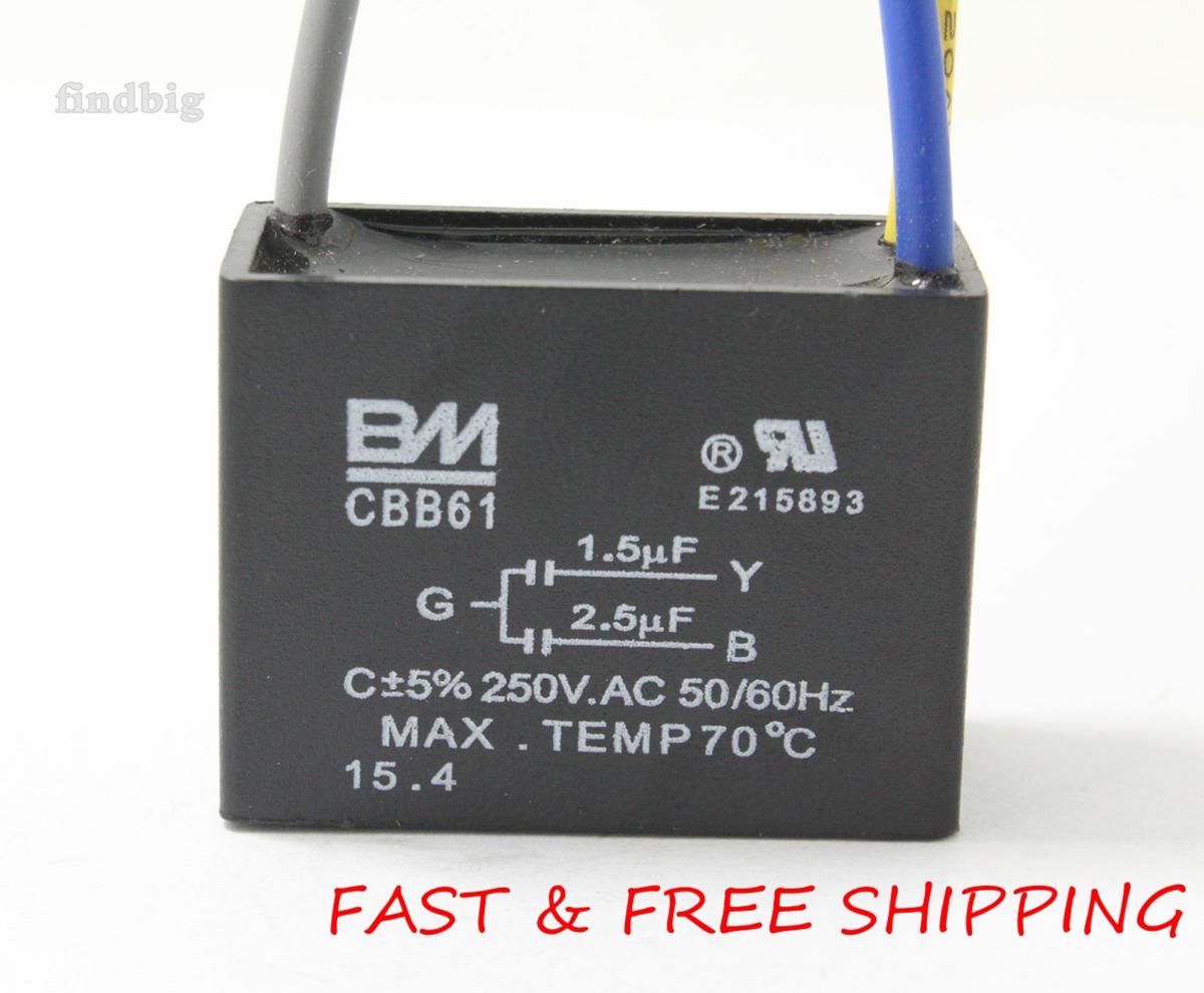 Máquina Eléctrica Condensador Cbb61 1.5uf + 2.5uf 3 Cable Ve -   803 ... 1b1930047824