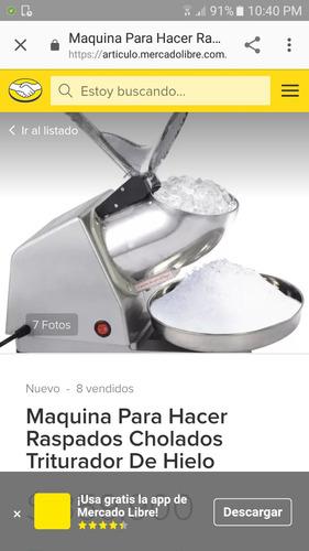 maquina eléctrica para raspado.