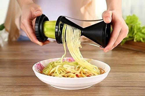 máquina espirilzadora de legumes verduras macarrão spirelli