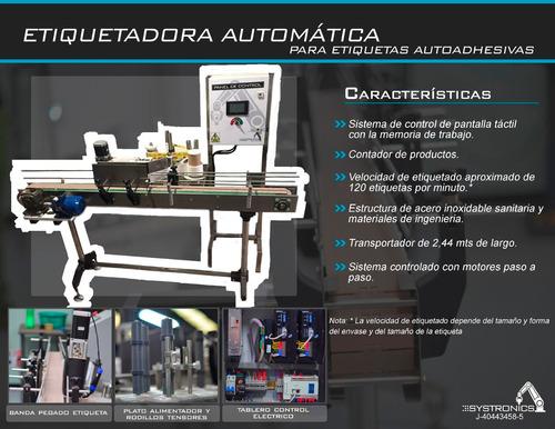 maquina etiquetadora automatica para envases cilíndricos