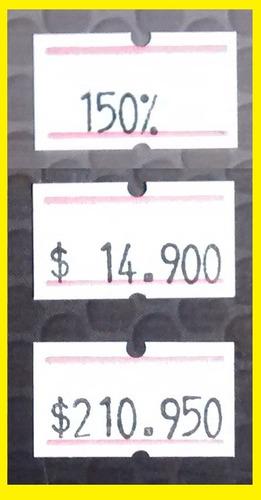 máquina etiquetadora para colocar precios números