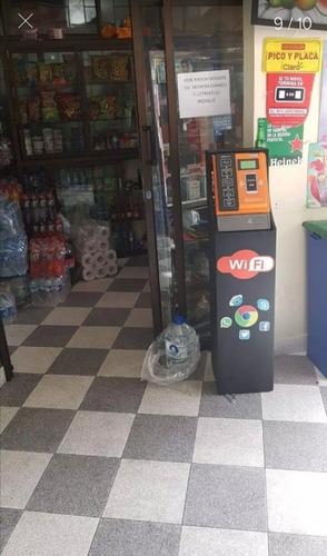 maquina expendedora de wifi monetizatú servicio modem+mueble