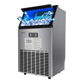 Maquina Fabricador De Hielo Hielera Rovsun Semi-industrial