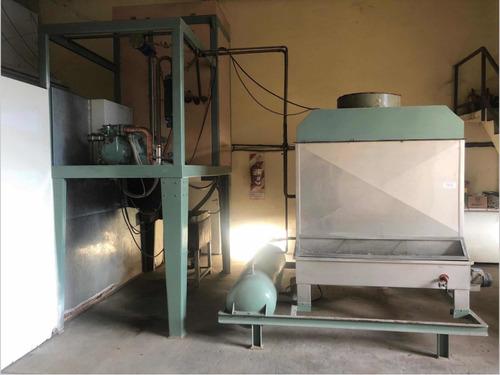 máquina fabricadora de hielo en cilindros, 8000 kg/día