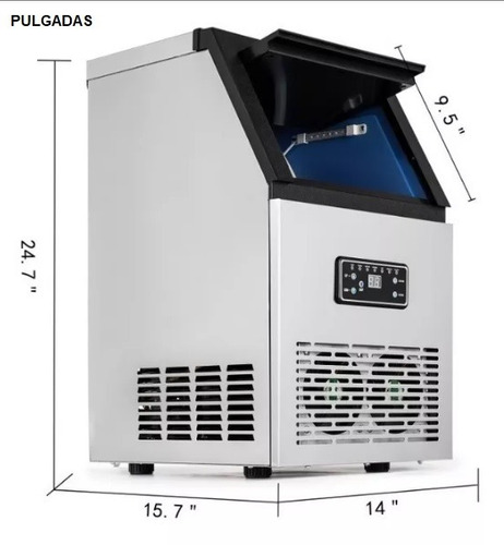maquina fabricar hielo (acero inoxidable) comercial 100 lbs