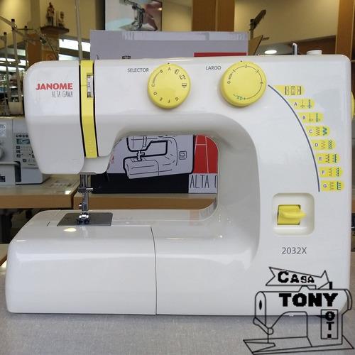 maquina familiar janome 2032x nueva curso gratis y garantía