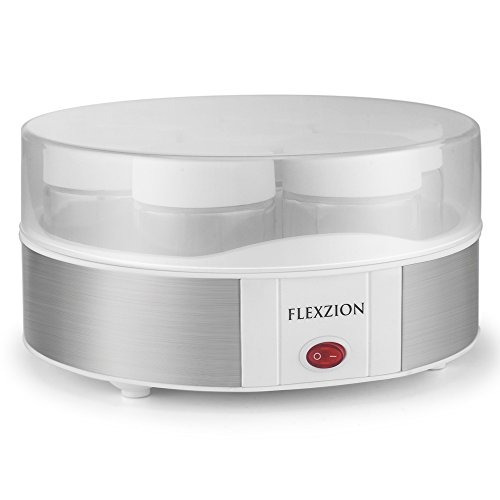 maquina flexzion maker con 7 recipientes de yogurt jarra de