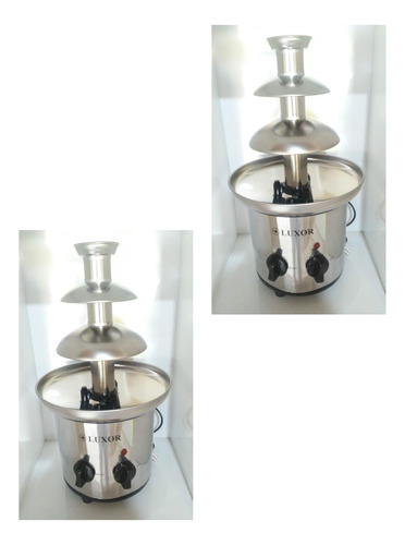máquina fondue profissional chocolate fonte elétrica 220volt