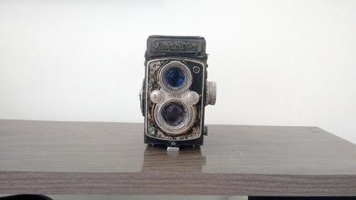 máquina fotográfica antiga rustica - modelo yashica mat