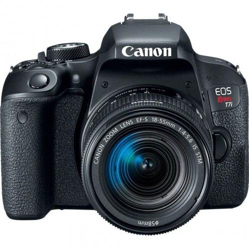 maquina fotografica canon t7i com lente 18-55 24.2 megapix