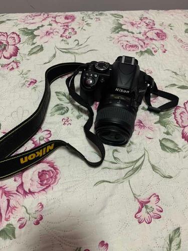 máquina fotográfica nikon d3100 lente 18-55mm
