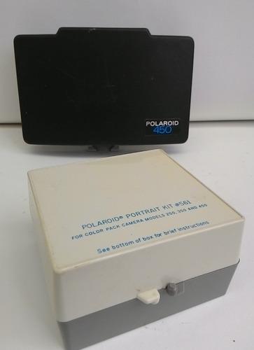 máquina fotográfica polaroid com acessorios