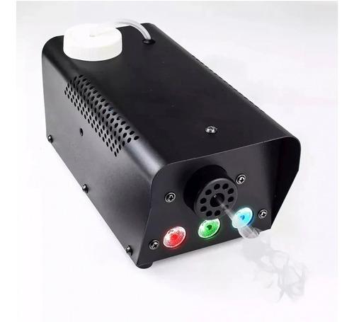 máquina fumaça 600w 3 leds iluminação rgb controle fluído