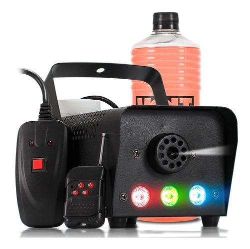 máquina fumaça 600w iluminação rgb dj festa brinde fluído