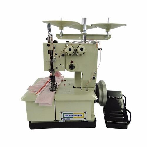 máquina galoneira 3 fios portátil bc2600-p bracob 110 ou 220