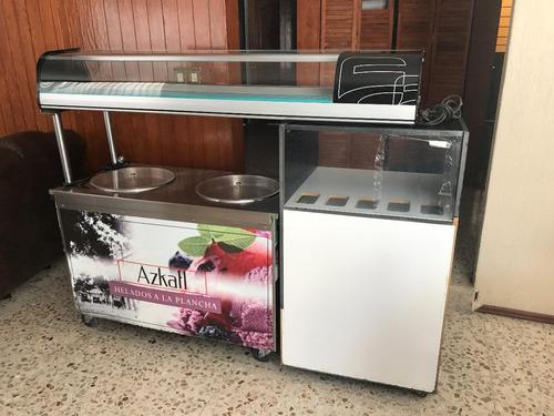 maquina helado frito, helado a la plancha equipo completo