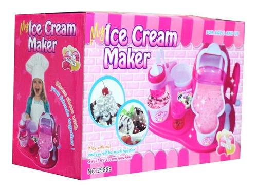 máquina helados infantil niñas rosada cocina 0927