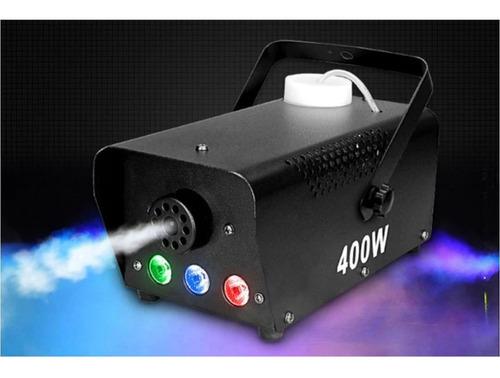 maquina humo 400w led inalambrica incluye 1 litro liquido