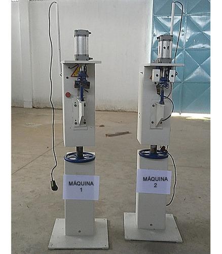 máquina ilhoseira pneumática industrial, aplicadora de ilhós