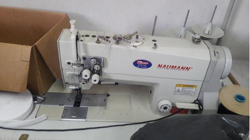 máquina industrial doble aguja naumann impecable