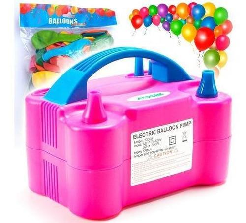 máquina inflador 600w 2iny + pack x100 globos regalo! el rey