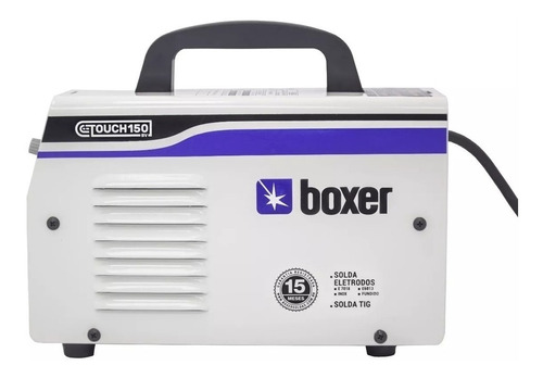 maquina inversora de solda 140a c/ kit bivolt touch150 boxer