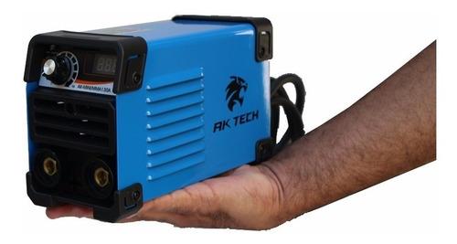 maquina inversora de solda ak tech mma-mini ak-130a - 220v