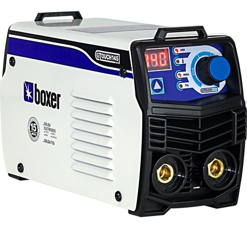 maquina inversora de solda boxer 140a 220v c/ masca touch145