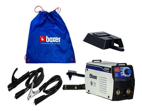 maquina inversora de solda eletrica 140 amperes eletrodo /tig - boxer 220v pequena leve e potente - acompanha mascara