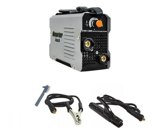 máquina inversora de solda portátil 130a 220v smarter evo130