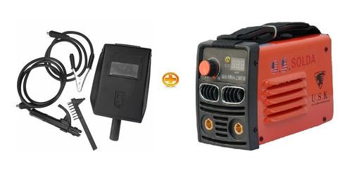 máquina inversora solda usk mini 230bm 220v display digital