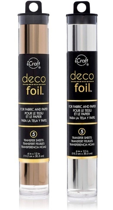 "Gold 5 Transfer Sheets 6/"" x 12/"" Deco Foil"
