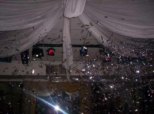 maquina lanza papelitos confeti pétalos fiesta eventos dj