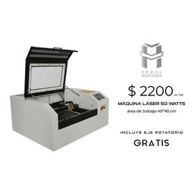 Máquina Láser  Corte Y Grabado 50w  40x40 Eje Rotatorio