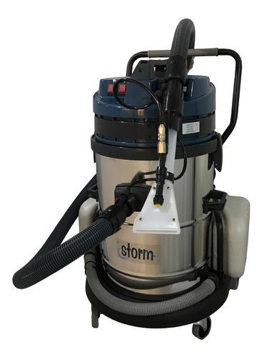 máquina lava alfombras tapicerias salas colchones industrial dos motores 60 litros acero inoxidable para uso continuo