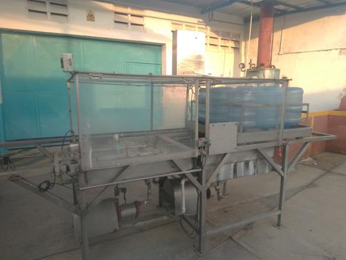 maquina lavadora de botellones de agua mineral