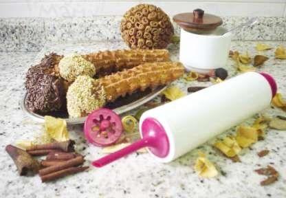 máquina manual de fazer churros + frete grátis