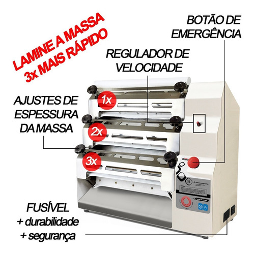 máquina massa elétrica tao s/cortador/laminador-21012 220v