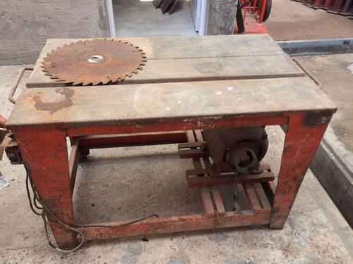 maquina mesa de corte madera c/disc usada reforzada ofertón