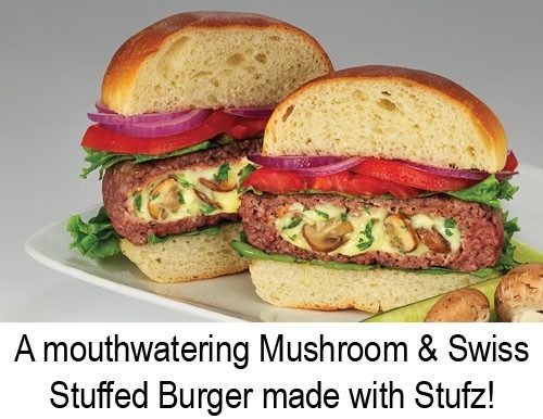 maquina modelador forma de hamburguer recheado stufz