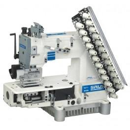 maquina multiaguja elastiquera 12 agujas 24 hilos