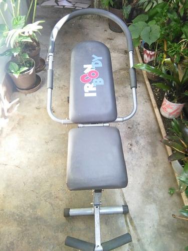 maquina para abdominales, iron body, poco uso