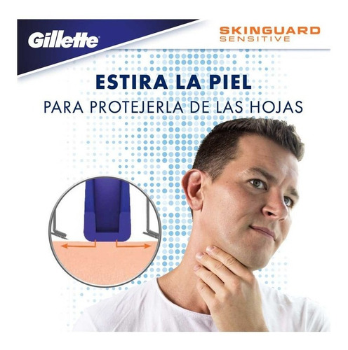 máquina para afeitar recargable gillette skinguard sensitiv