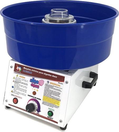 máquina para algodão doce- bivolt - nf- kit gratis